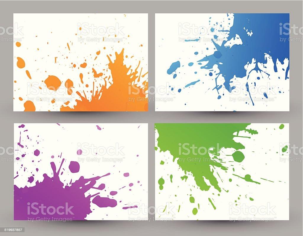 Colorful grunge backgrounds vector art illustration