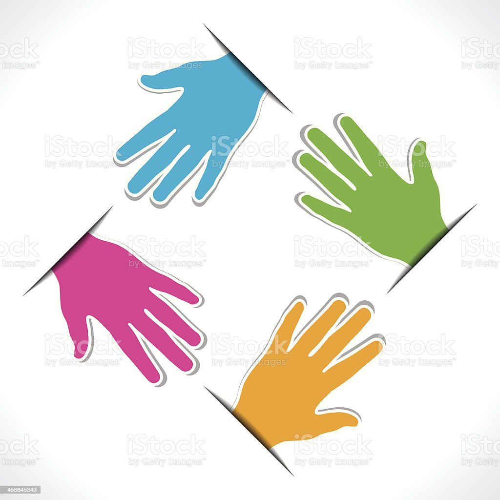 colorful hand design vector art illustration