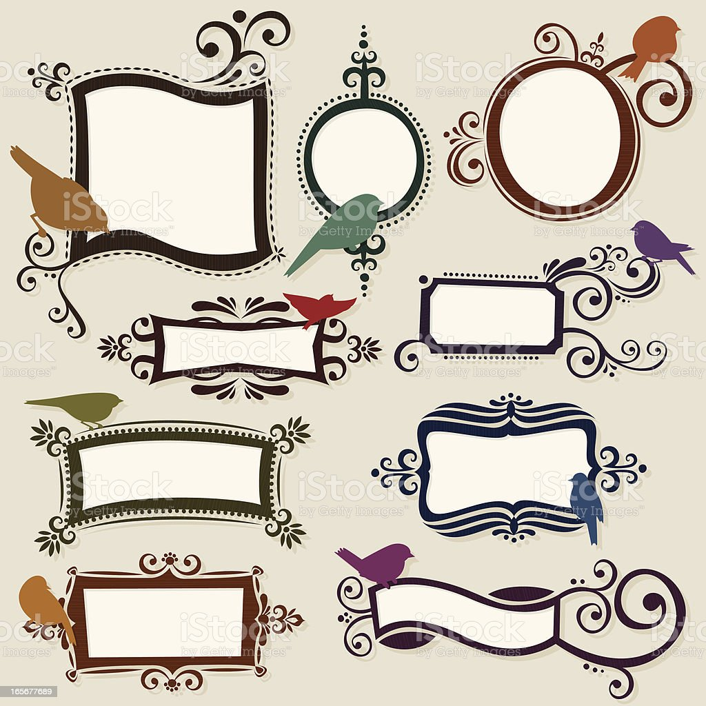 Colorful hand drawn label collection royalty-free stock vector art