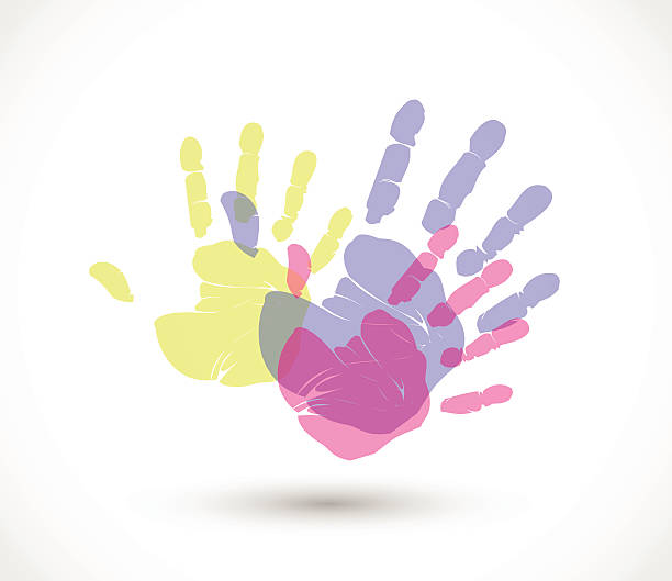 Handprint Clip Art, Vector Images & Illustrations - iStock