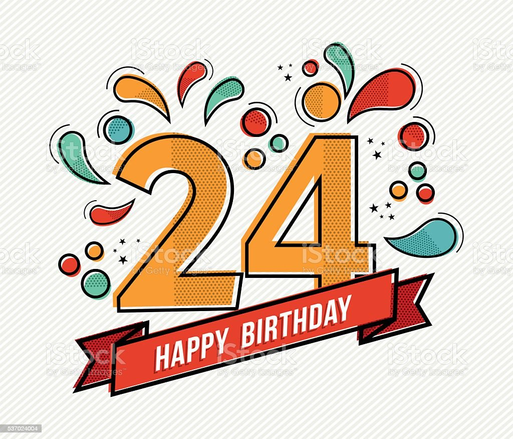 Открытки 24 года с днем рождения 68