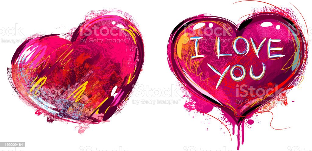 Colorful Heart isolated on white royalty-free stock vector art
