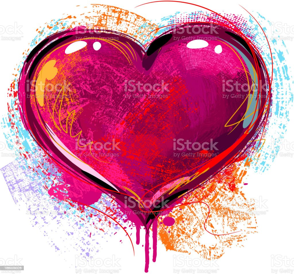 Colorful Heart royalty-free stock vector art