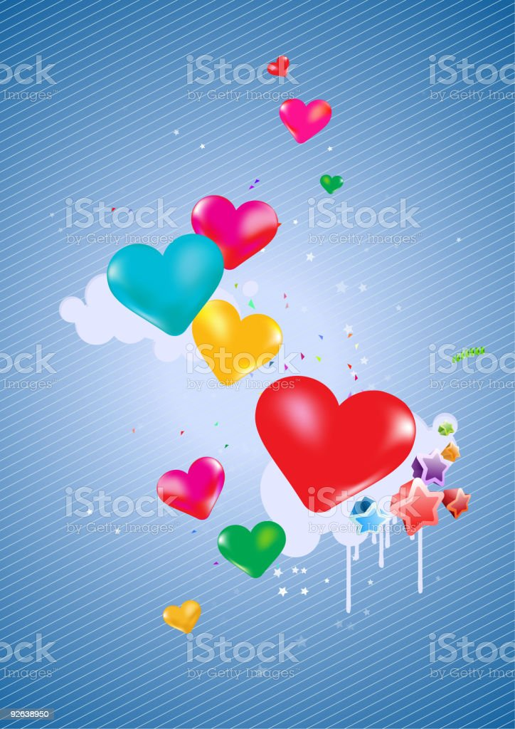 Colorful hearts Background royalty-free stock vector art