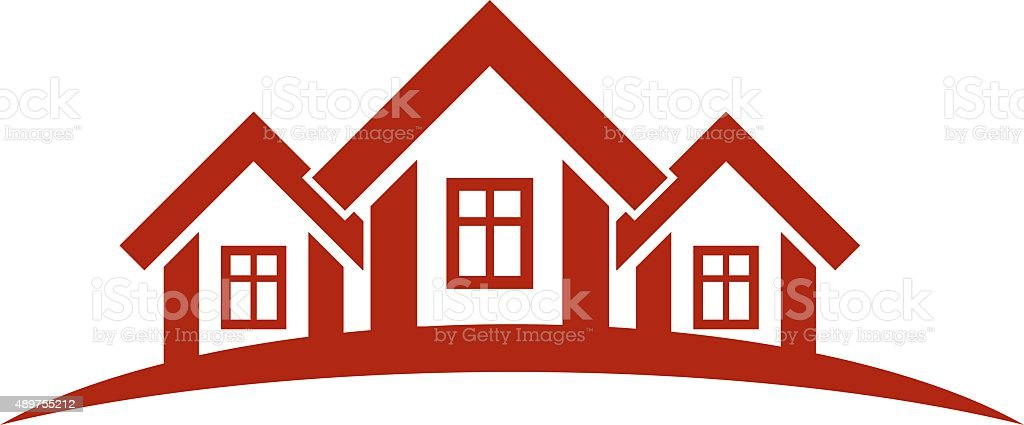 Colorful holiday houses vector illustration, home image vector art illustration