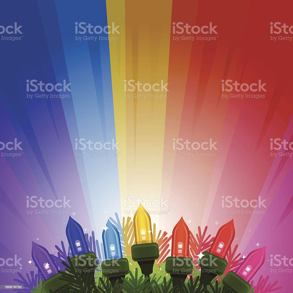 Colorful Holiday Lights vector art illustration