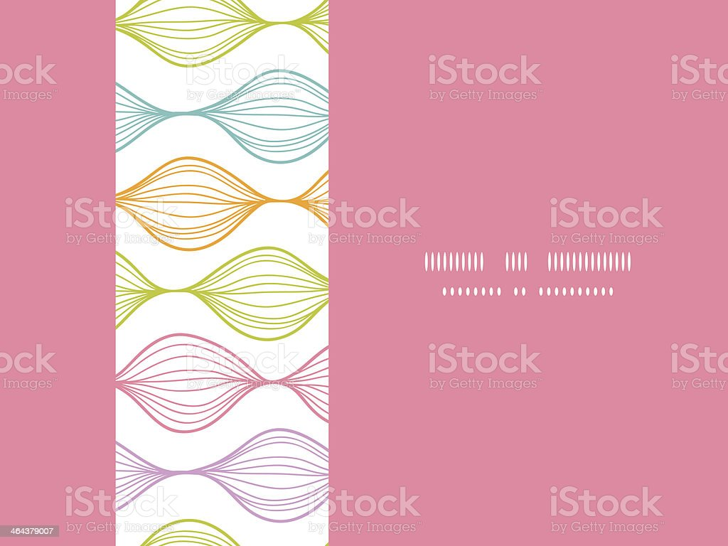 Colorful horizontal ogee seamless pattern background royalty-free stock vector art