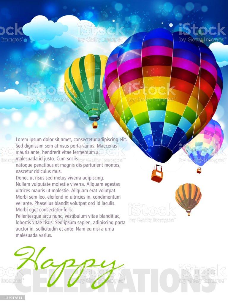 Colorful Hot Air Balloons royalty-free stock vector art
