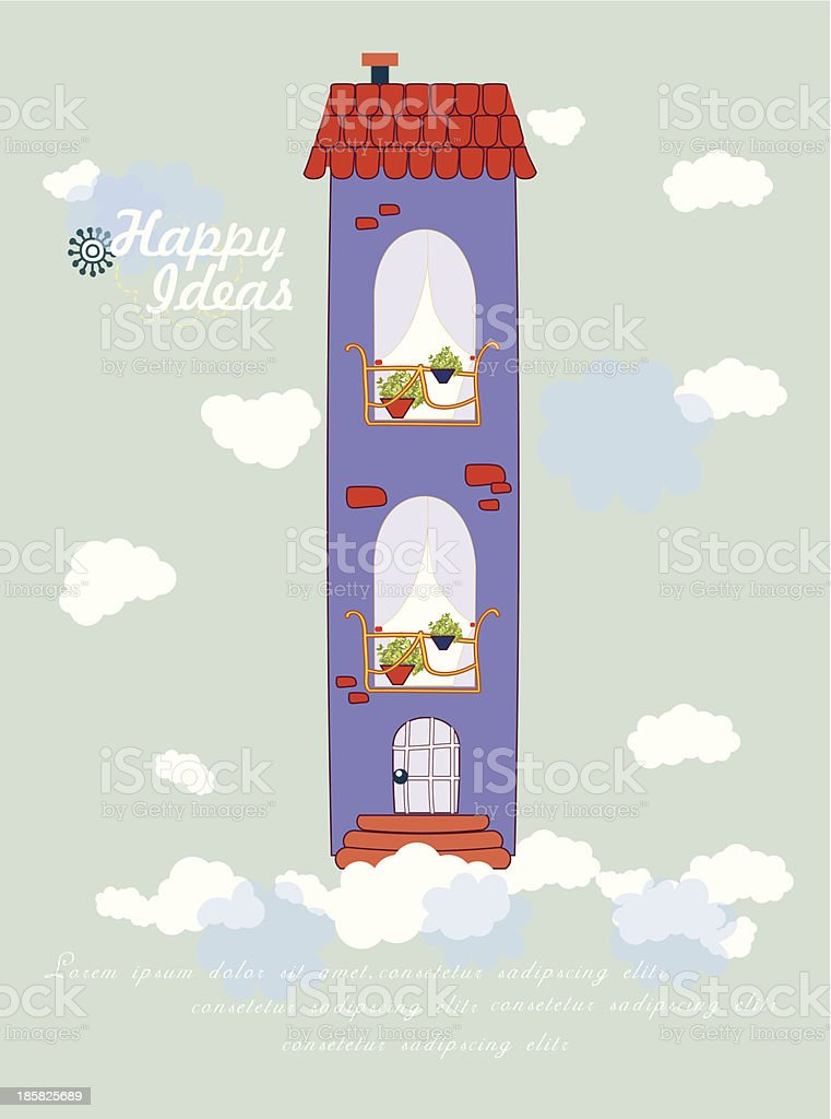 Colorful house design. royalty-free stock vector art