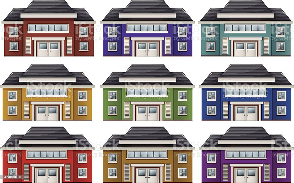 Colorful houses royalty-free stock vector art