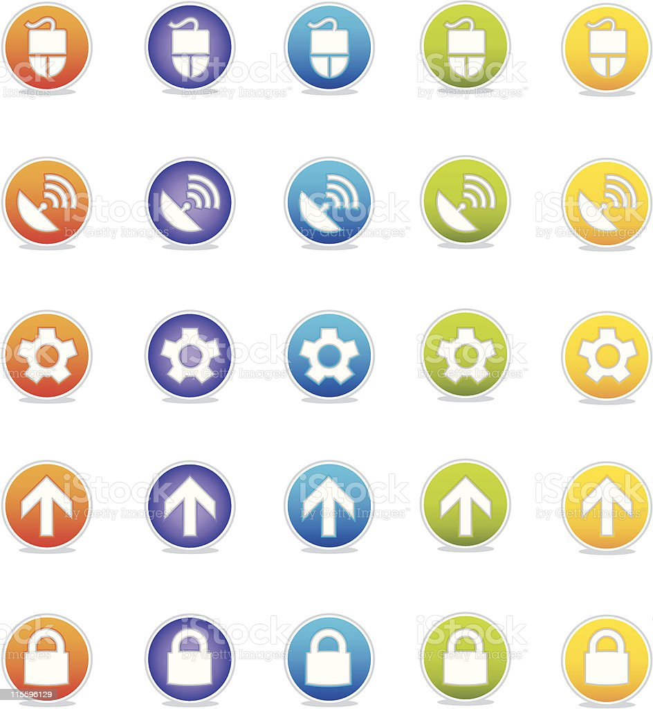 Colorful Icon Set: Web royalty-free stock vector art