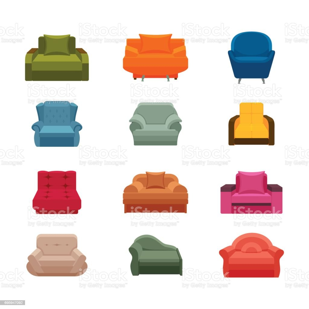 colorful icon sofa set collection of furniture for home interiors