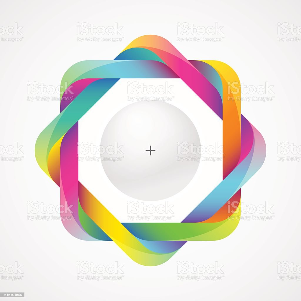 Colorful infinity frame vector art illustration