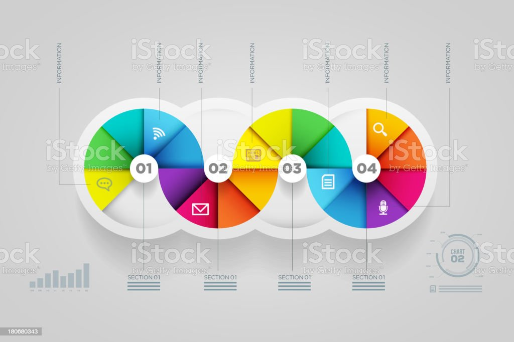 Colorful infographic design template. royalty-free stock vector art
