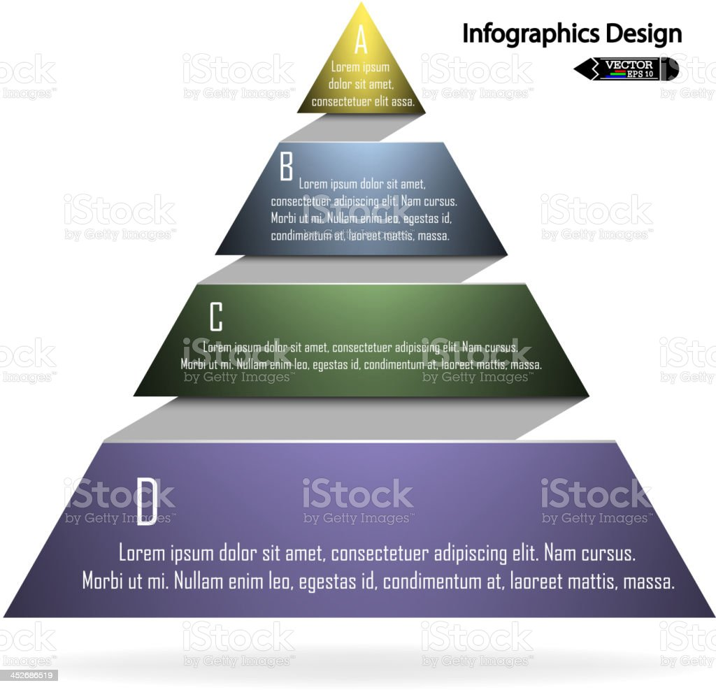 Colorful infographics triangle vector art illustration