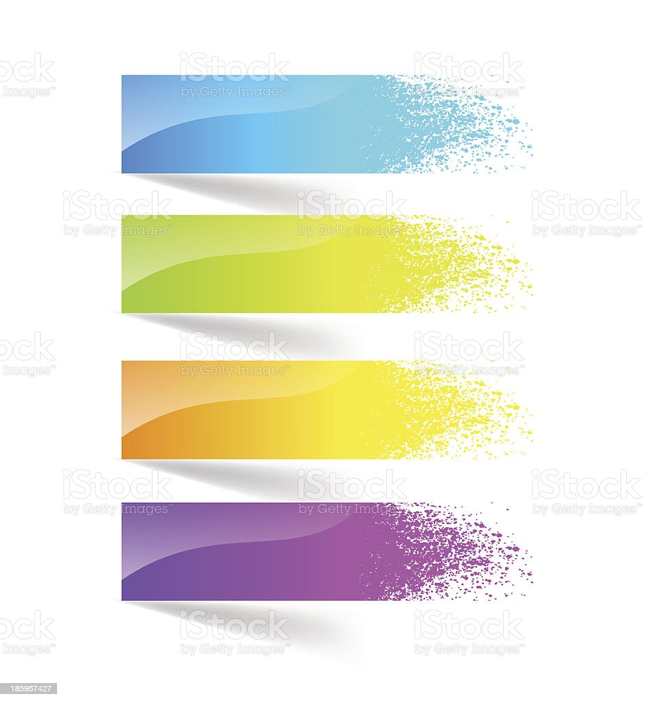 Colorful ink splash banner. royalty-free stock vector art