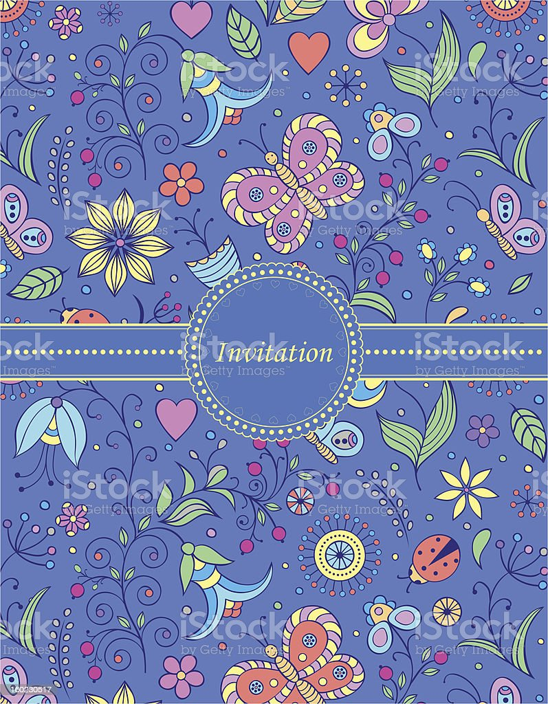 colorful invitation card royalty-free stock vector art