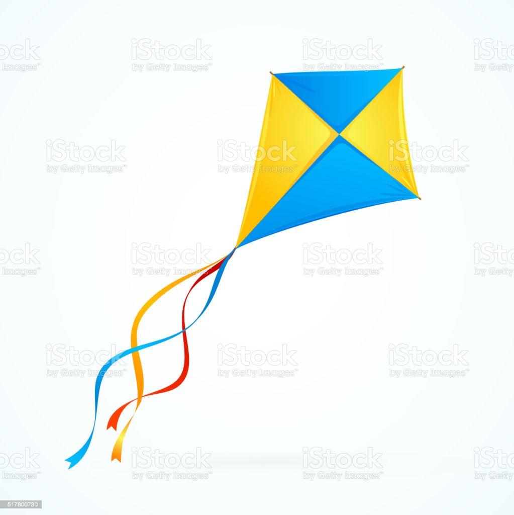 Colorful Kite. Vector vector art illustration