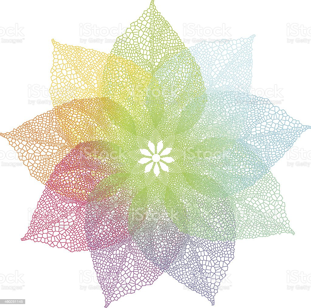 colorful leaves flower vector art illustration