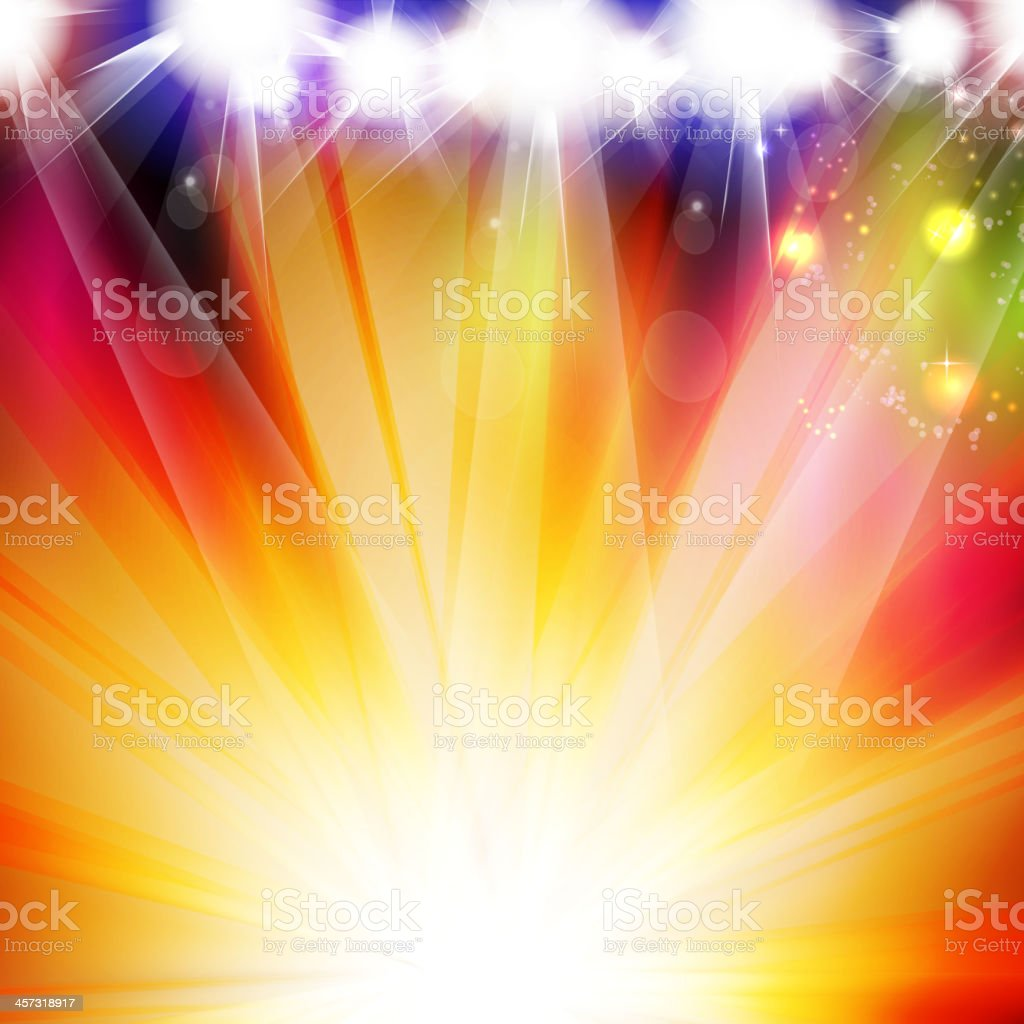 Colorful light stage vector background vector art illustration