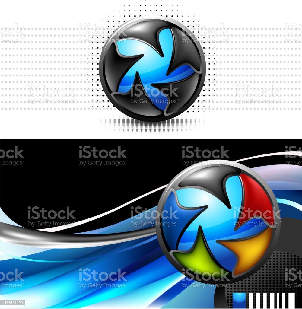 Colorful logo emblem vector art illustration
