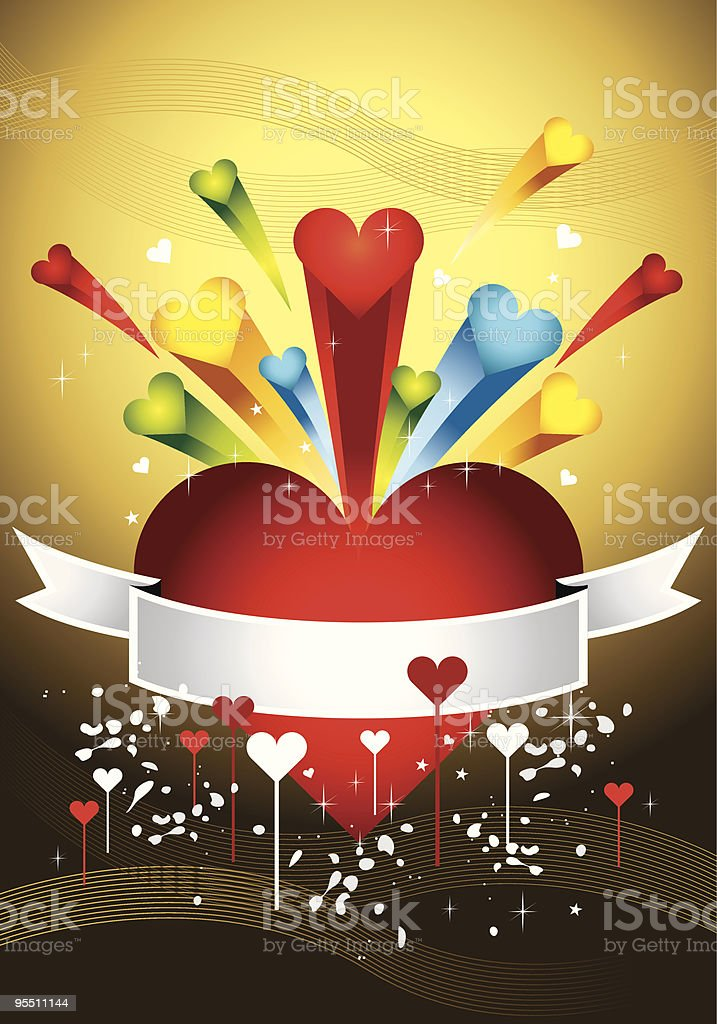 Colorful Love Banner 1 royalty-free stock vector art