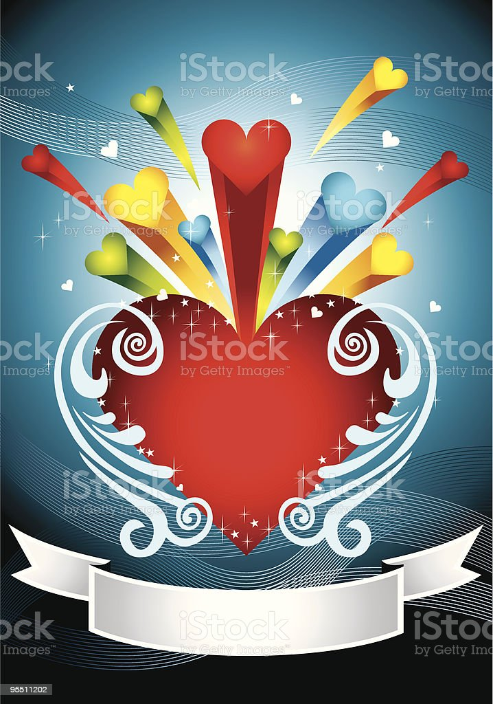 Colorful Love Banner 2 royalty-free stock vector art