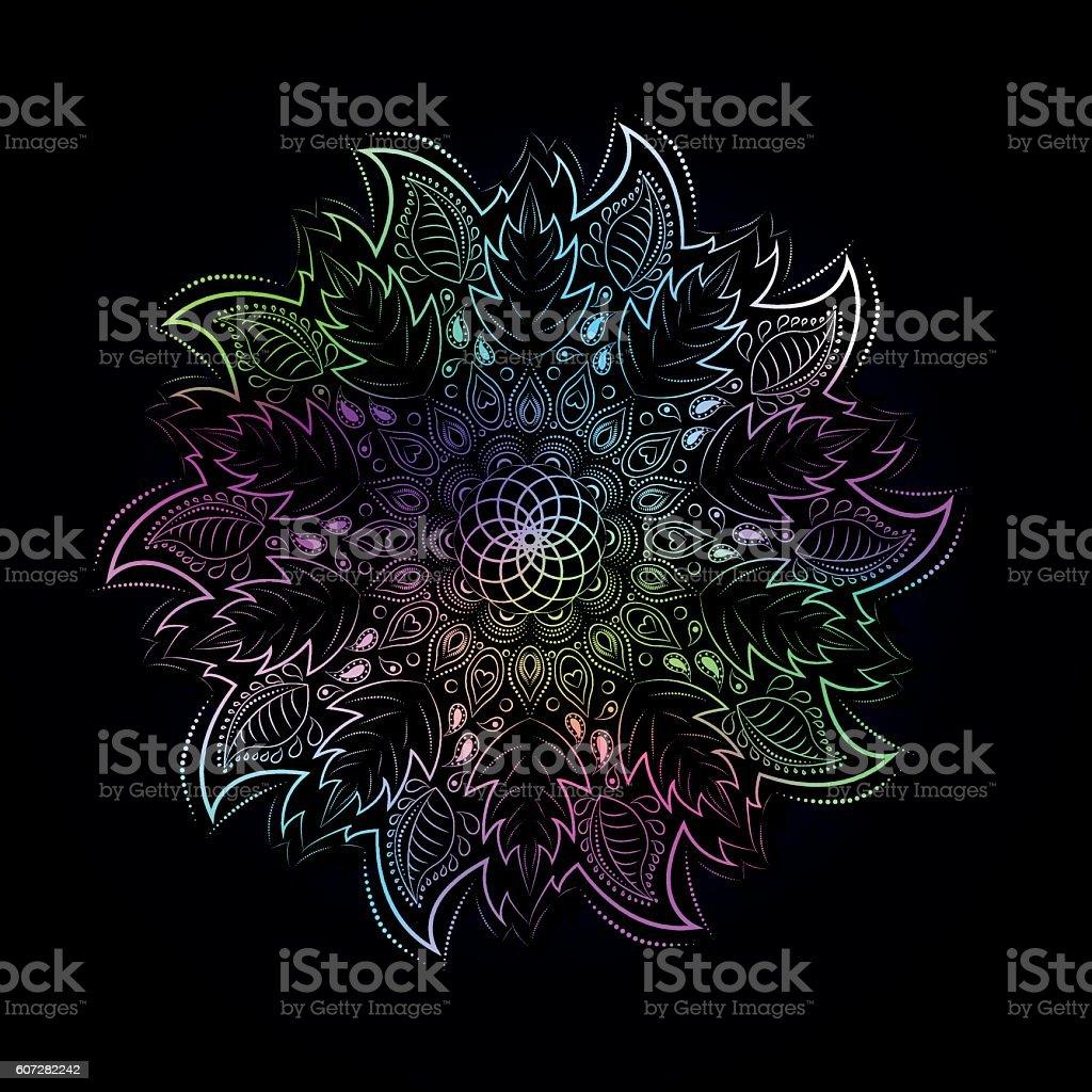 Colorful mandala in Eastern style. stock vecteur libres de droits libre de droits