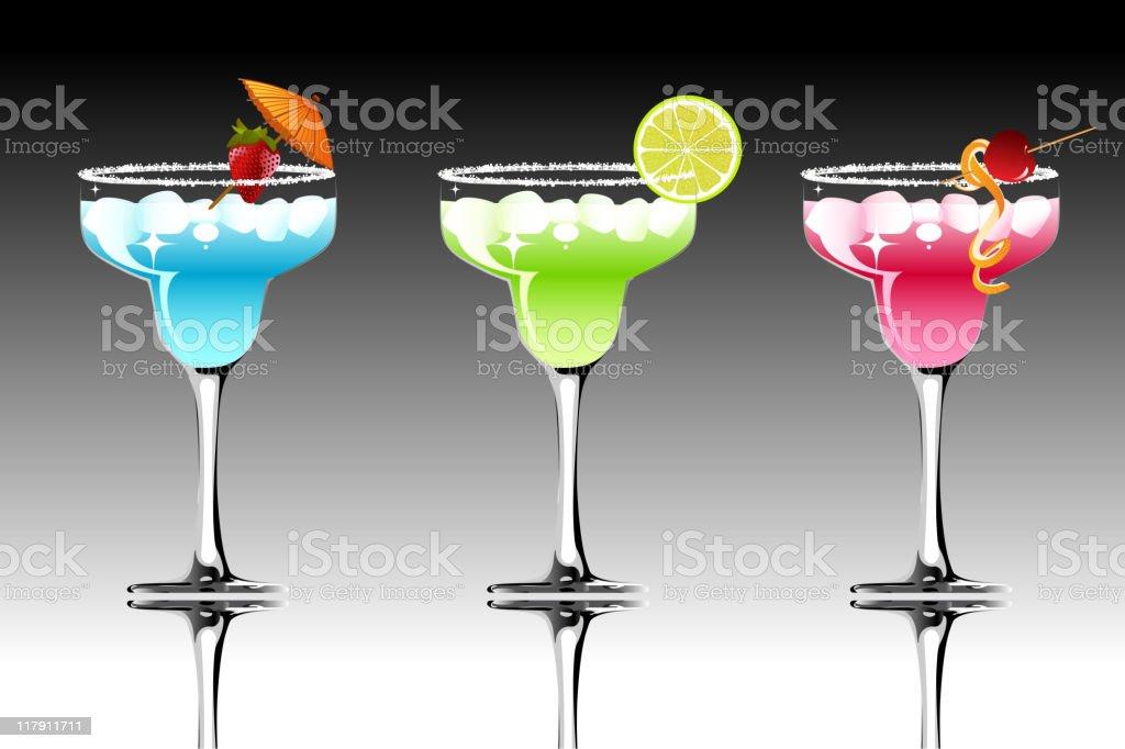Colorful Margarita royalty-free stock vector art