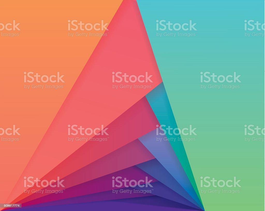 Colorful material design style wallpaper pattern vector art illustration