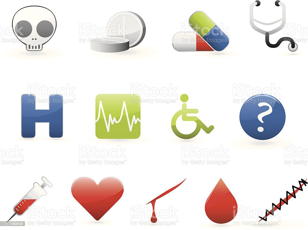 colorful medical icon set 2 royalty-free stock vector art