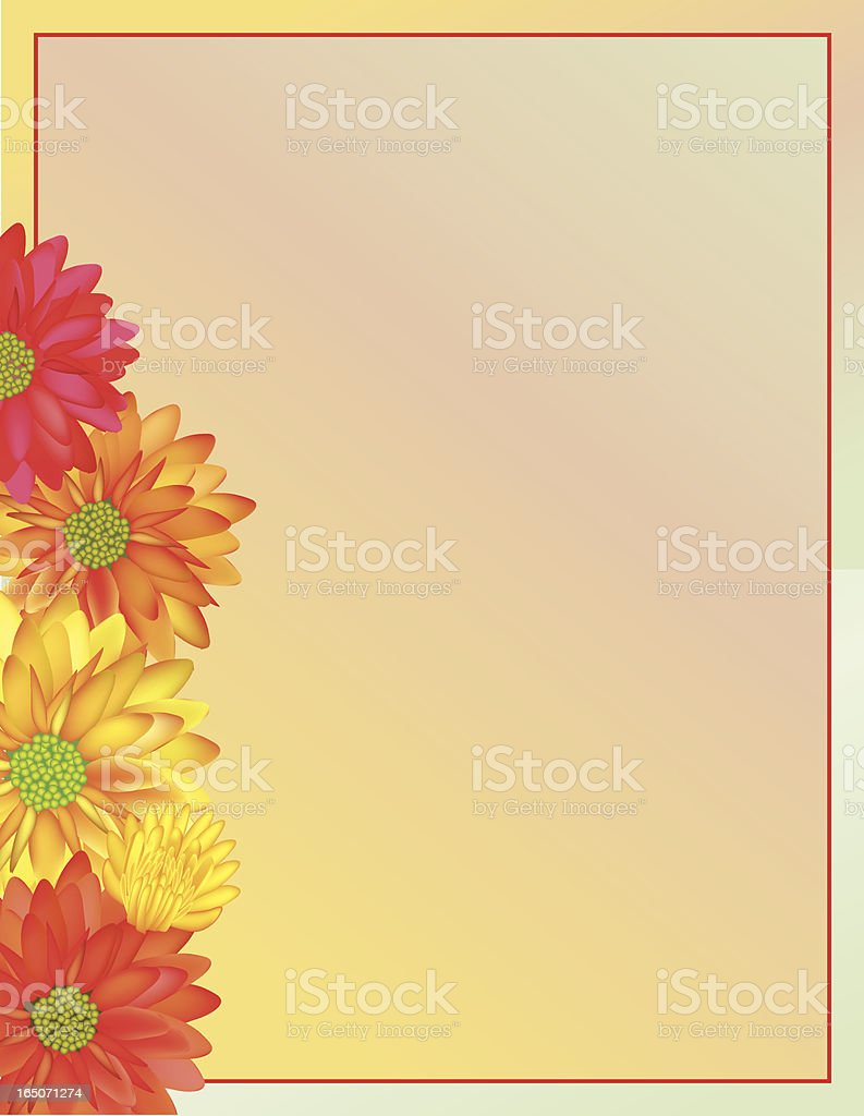 Colorful mum border royalty-free stock vector art
