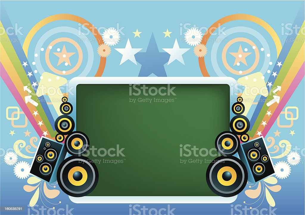 Colorful Music banner royalty-free stock vector art