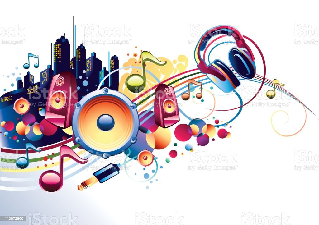 Colorful music royalty-free stock vector art