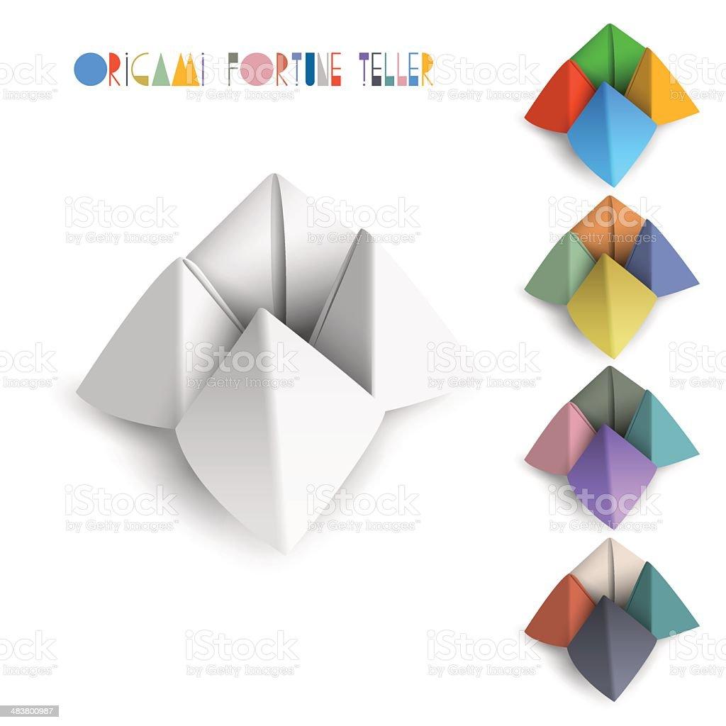 Colorful origami Fortune Teller vector art illustration