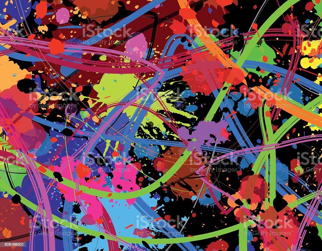 Colorful paint background vector art illustration