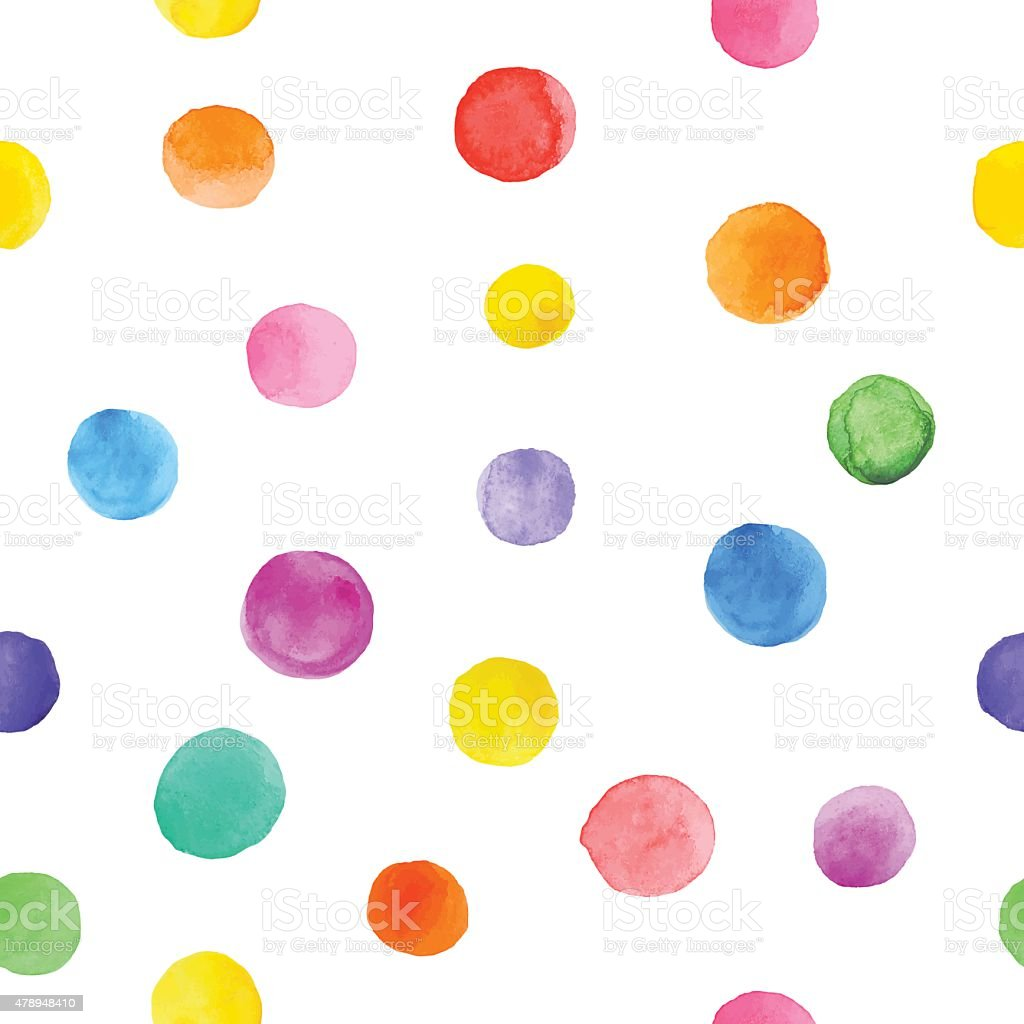 Colorful paint watercolor seamless pattern. vector art illustration