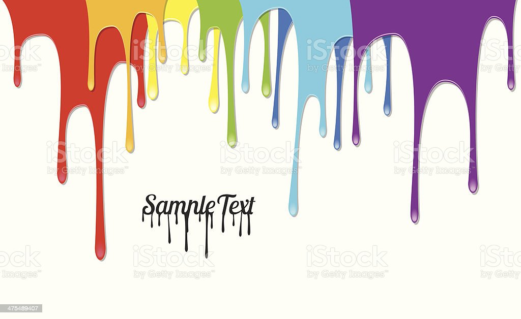 Colorful Paints Pouring - Vector Background vector art illustration