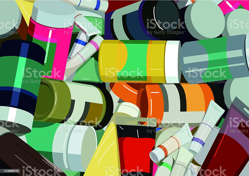 colorful paints royalty-free stock vector art