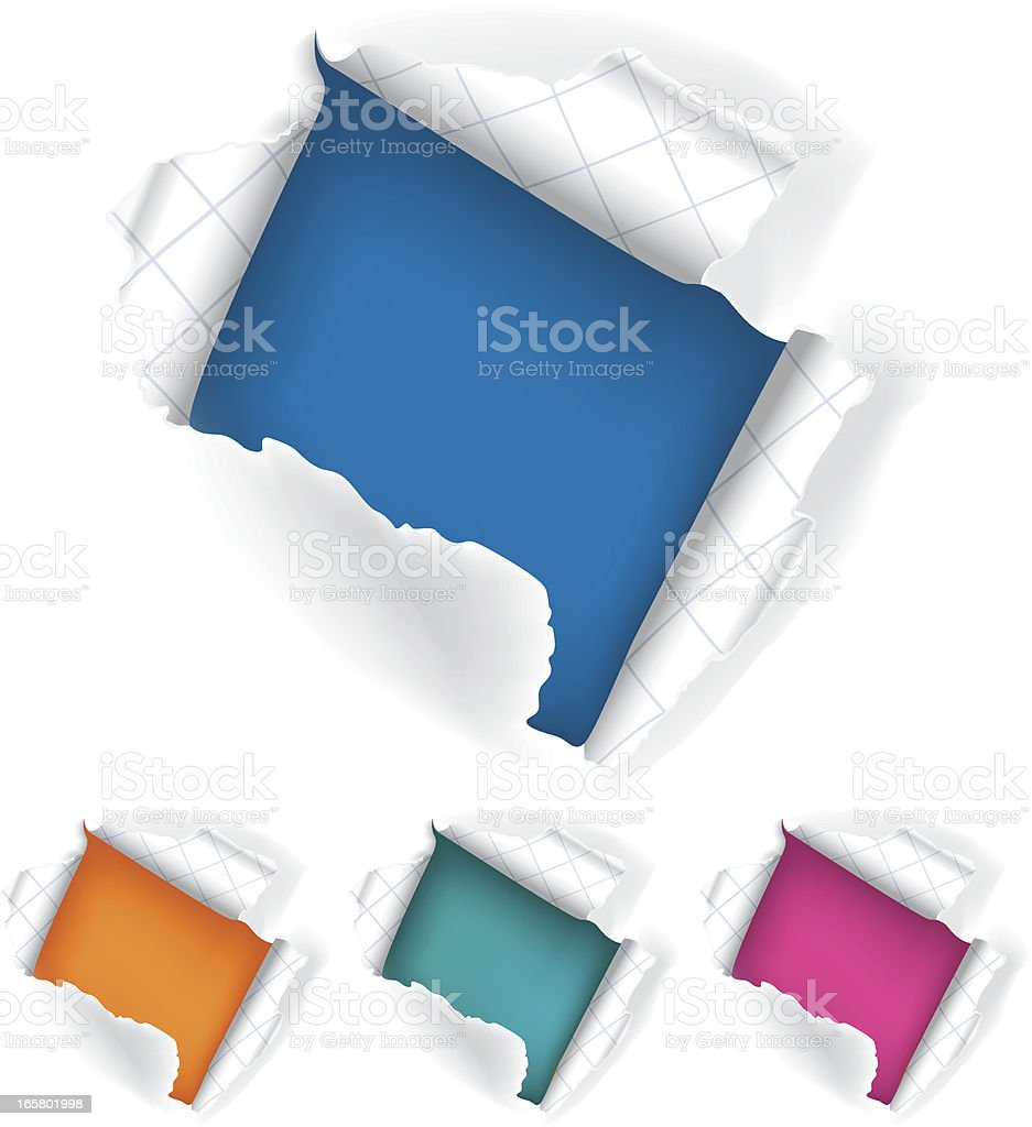 Colorful Paper royalty-free stock vector art