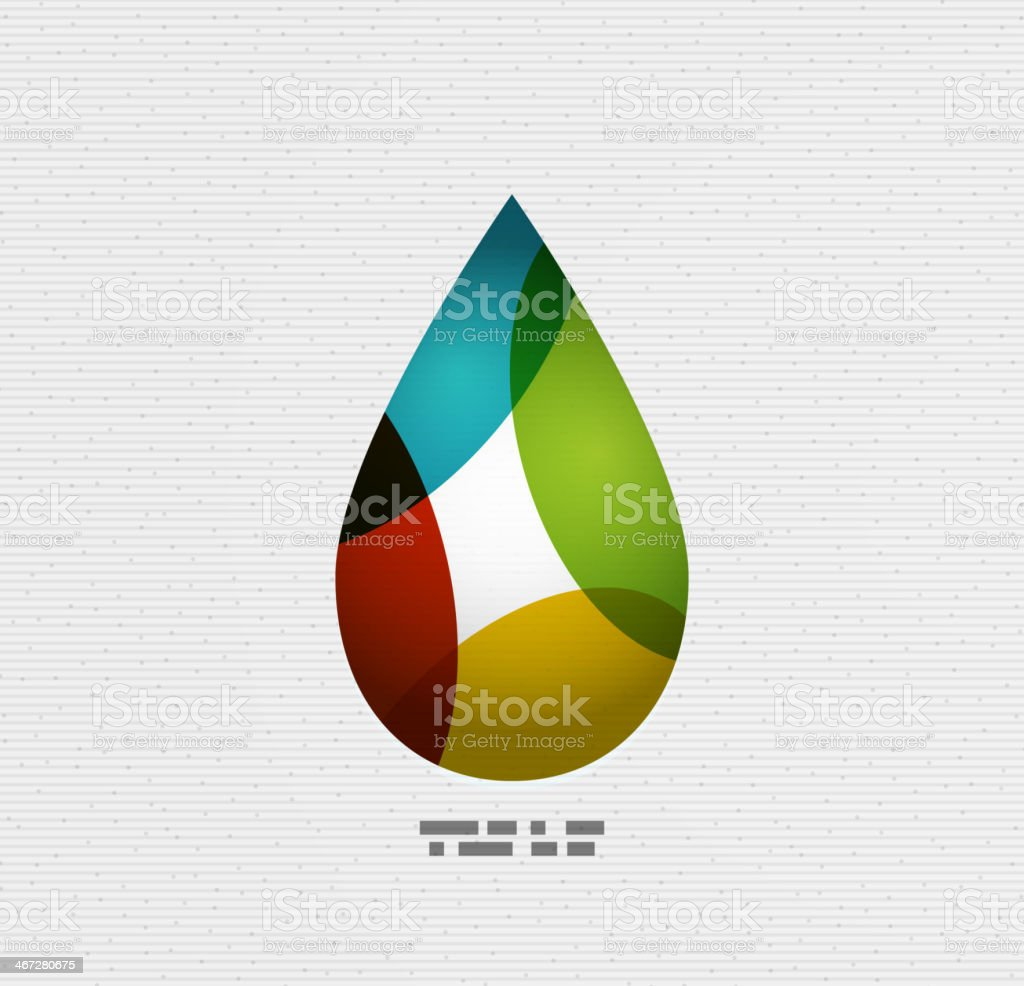 Colorful paper water drop royalty-free stock vector art