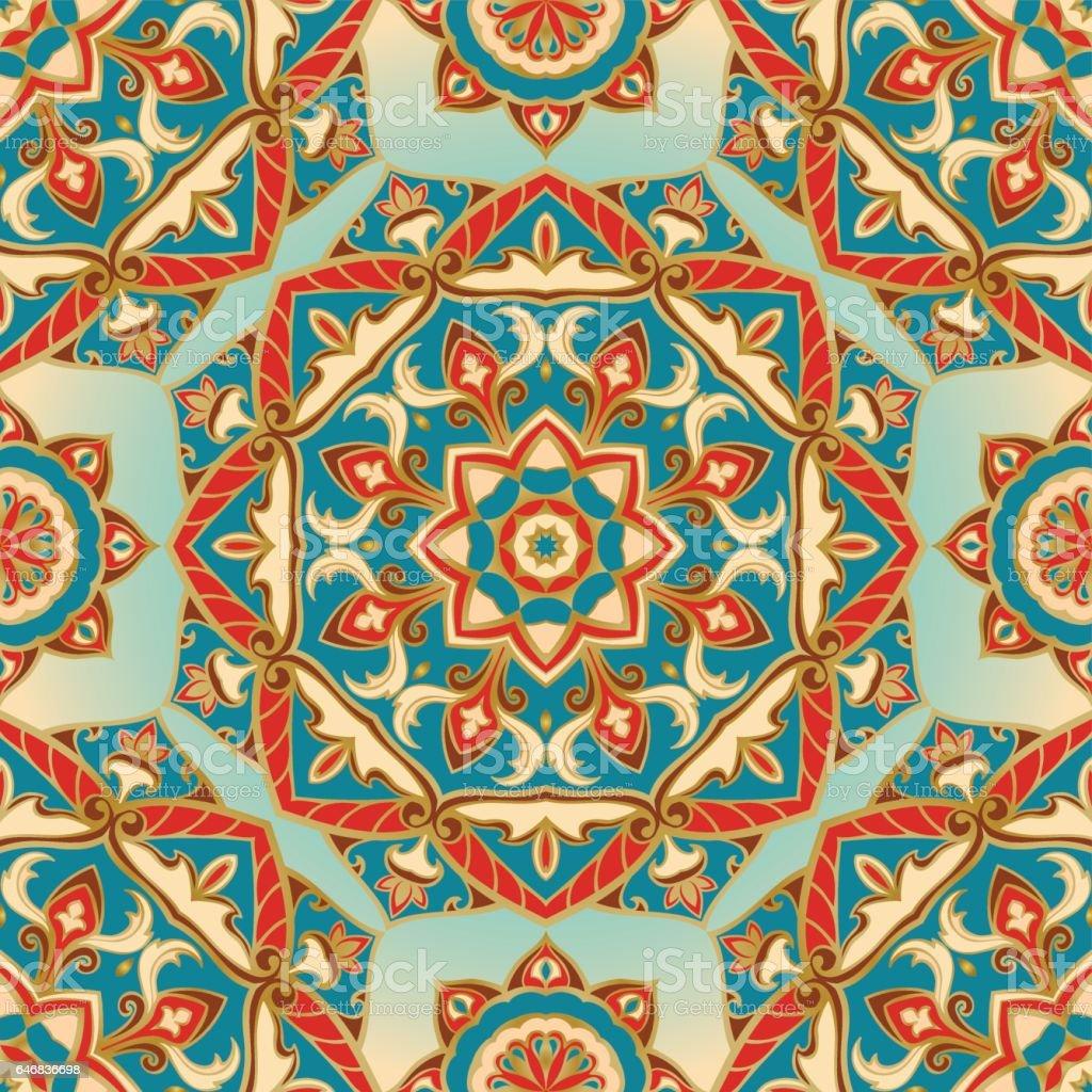 Colorful pattern of mandalas. vector art illustration