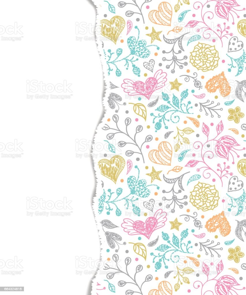 colorful pattern with torn paper vector art illustration