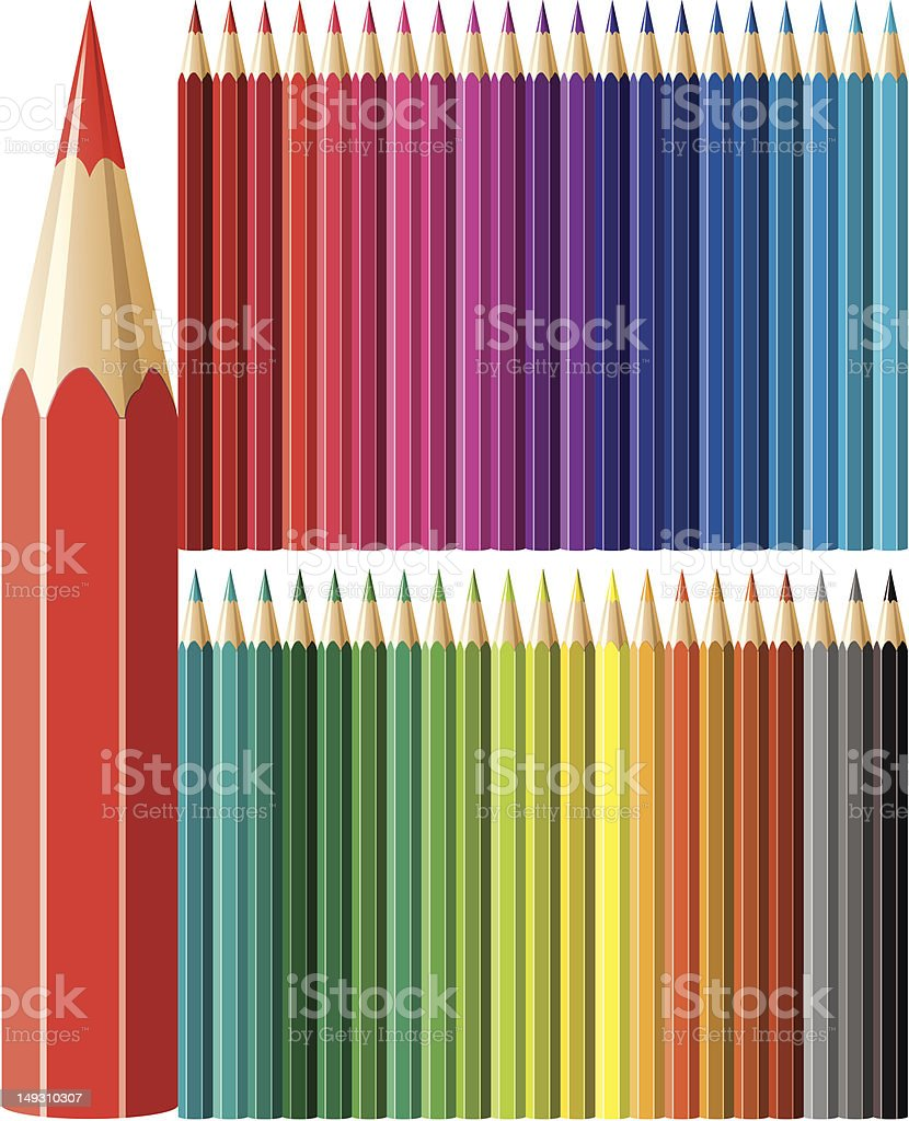 colorful pencils royalty-free stock vector art