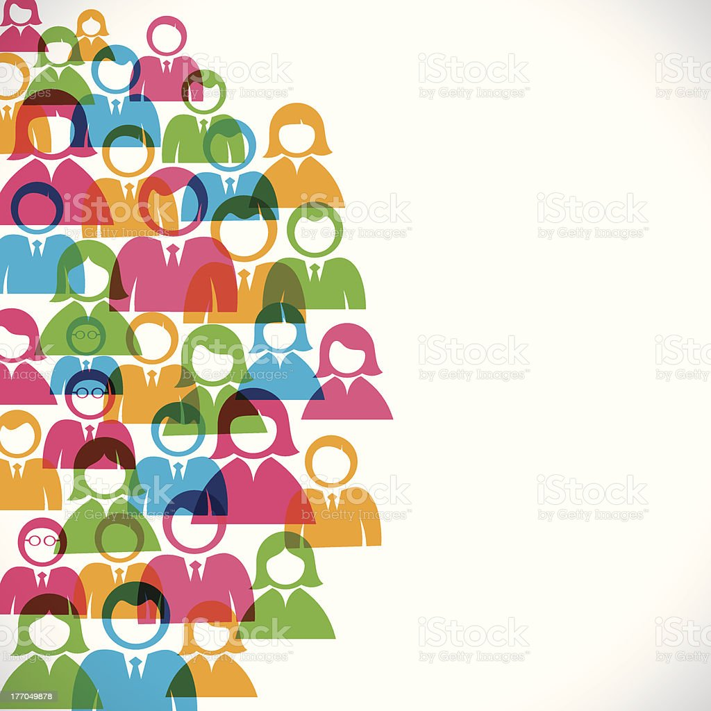 colorful people background vector art illustration