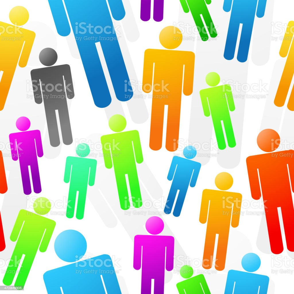 Colorful People Seamless Background royalty-free stock vector art