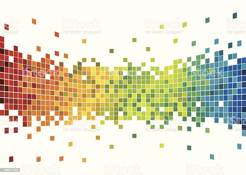 Colorful pixels design vector art illustration
