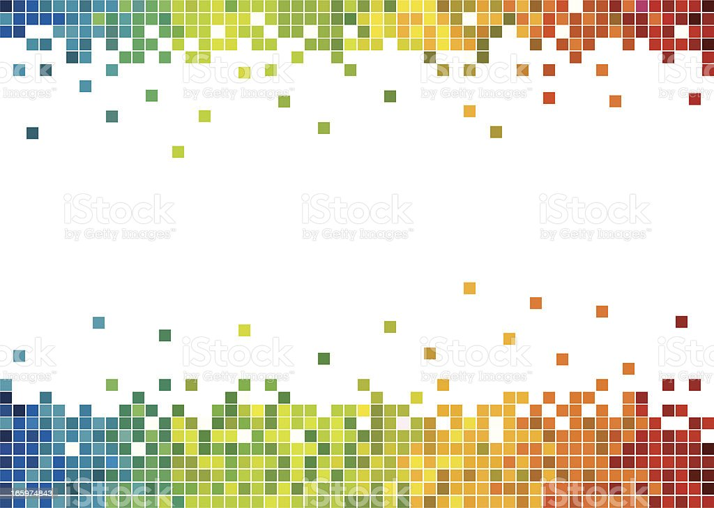 Colorful pixels vector art illustration