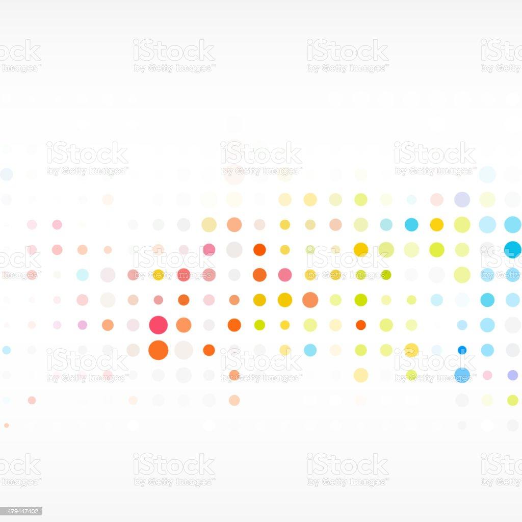 colorful polka dot pattern background vector art illustration