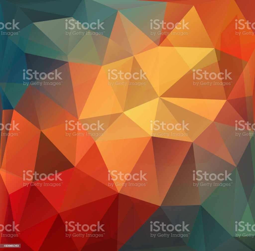 Colorful Polygon abstract background. Vector. royalty-free stock vector art